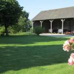 The high Dutch barn houses a nest box for barn owls.