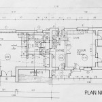 Blueprint of the guesthouse, ground floor.