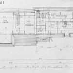 Blueprint of the guesthouse, first floor.