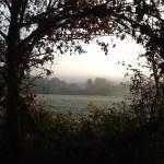 « God`s window », a romantic glimpse through the hedge.